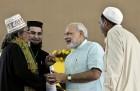 Sep 18, 2011: Second day of Narendra Modi's Sadbhavana fast in Ahmedabad.