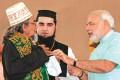 <b>Sadbhavana undone</b> Modi refusing to wear a skullcap offered by the Imam Shahi Saiyad of Prara