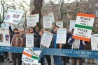 <b>Voices of indignation</b> Indians protest against the Gujarat riots outside the Indian consulate in New York in March 2002