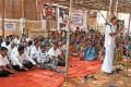<b>Atomic fears</b> A local leader speaks at a sit-in against KKNPP in Idinthakarai