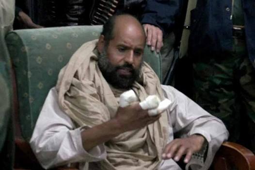 Muammar Gaddafi's son Seif al-Islam in 2011.