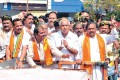 Yeddy, second from right, with CM Sadananda Gowda and others, in Bellary