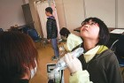 Children being scanned for radiation after Fukushima