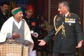 <b>Any problem?</b> Gen V.K. Singh with defence minister A.K. Antony