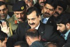 <b>With respect</b> Pakistan prime minister Gilani outside the Supreme Court in Islamabad on January 19 after attending a contempt of court hearing