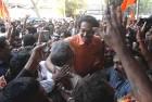 <b>Victory lap</b> Uddhav celebrates the Sena win