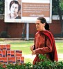 <b>After thought</b> Sonia Gandhi at Congress HQ in Delhi, March 7