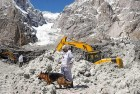 Search operations at the avalanche site in Siachen