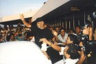 Rajnikanth gets mobbed at Chennai airport