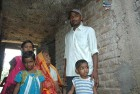 <b>Bihata's pride</b> Santosh with his family