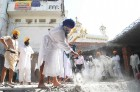 <b>Edifice of unrest?</b> Damdami Taksal chief Harnam Singh Dhuma leads kar seva