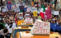 'Occupy Wall Street' activists on a May Day march in Manhattan