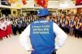 Walmart workers in Guentersdorf, Germany