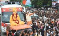 <b>Jarring</b> The swami on Narendra Modi's poll mobile