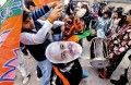 <b>Drum it up</b> Modi supporters celebrate his victory