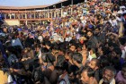 Devotees crowd at Sannidanam in Sabarimala Lord Ayyappa temple.