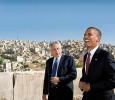 Chuck Hagel with Obama in Jordan, 2008