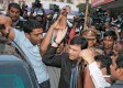 Tongue trouble: Supporters raise slogans as Akbaruddin Owaisi is led away by police after his arrest over hate speeches