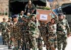 <b>Border violation</b> Soldiers carry Lance Naik Hemraj's body