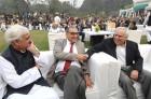 <b>He wants more</b> PCI chairman Katju with Salman Khurshid (left) and Kapil Sibal