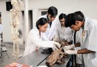 <b>More of them</b> Medical students take an anatomy lesson at a college in Delhi