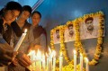 Schoolchildren pay tribute to Sarabjit in Amritsar, May 2