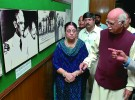 <b>View-binding trip</b> Advani, wife in Karachi