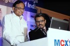 <b>Watch that click</b> Finance minister P. Chidambaram inaugurating MCX-SX