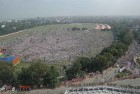 <b>Playing the maidan</b> Crowds thronged to hear Modi speak in Patna on Oct 27