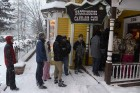 <b>Cold comfort</b> A line outside the Cannabis Club in Colorado on Jan 1, 2014