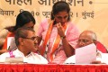 Praful Patel, Sharad Pawar and daughter and MP Supriya Sule at a Mumbai function