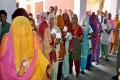 File Photo: Women show their voting ID card before casting their vote in Sonepat, Haryana