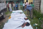Victims in Kokrajhar, Assam where separatist militants opened fire with automatic weapons on villagers.