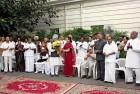 <b>Quiet Worker</b> Sonia Gandhi felicitates Manmohan Singh after UPA-I won the trust vote in 2008