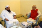 LeT founder Hafiz Saeed with Baba Ramdev aide and journalist Ved Prakash Vaidik