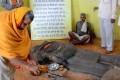<b>Hero's repose</b> A reclining Ravana idol in a temple in Vidisha distict, Madhya Pradesh