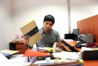 <b>At his desk</b> Chaturvedi is used to trouble