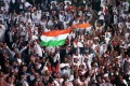<b>Madison About Modi</b> A square erupted with NRI joy