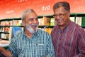 <b>Barbed words</b> Ananthamurthy with Karnad