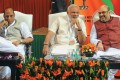 <b>Two together</b> Modi and Shah with Rajnath Singh (left) at a BJP meet