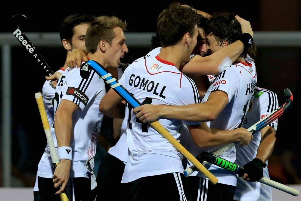 0b1f4b13232 German players celebrate after they beat Pakistan 2-0 to win the Champions  Trophy hockey final at Kalinga Stadium in Bhubaneswar.