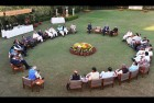 <b>Centre of action</b> Modi with CMs at a retreat he held to discuss a Planning Commission revamp