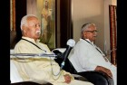 RSS Chief Mohan Bhagwat and Sarkaryavah Bhaiyyaji Joshi during the inaugural session of ABPS in Nagpur.