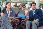 Vasundhararaje, Dushyant, Lalit Modi at an IPL match