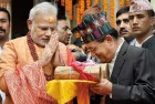 <b>Neigbour's call</b> Modi at the Pashupatinath temple