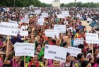 <b>Show of strength</b> A rally of Patels in Gandhinagar demanding OBC status