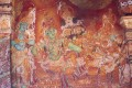 <b>Fading pigments of a human epic</b> Scene from a Kerala temple mural, Rama holding court
