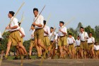 <b>Marching in</b> An RSS camp in Ahmedabad