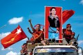 <b>Suu Kyi For Prez:</b> The supporters of NLD campaigning in earlier this year