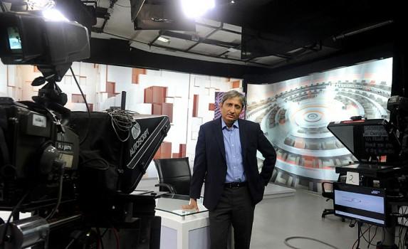 Sole campaigner NDTV India's top anchor Ravish Kumar